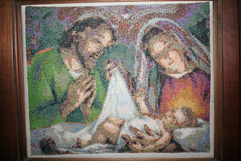 079 Nacimiento en punto de cruz. Belén de Maritza Bravo