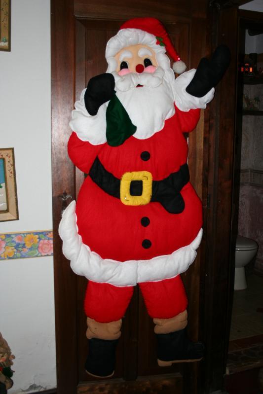 098 Papá Noel elaborado en paño lency. Belén de Maritza Bravo