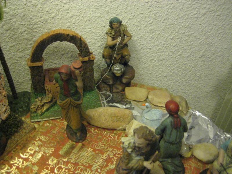 Aguadora, Pescador y lavandera. Belén de Miguel (Madrid)