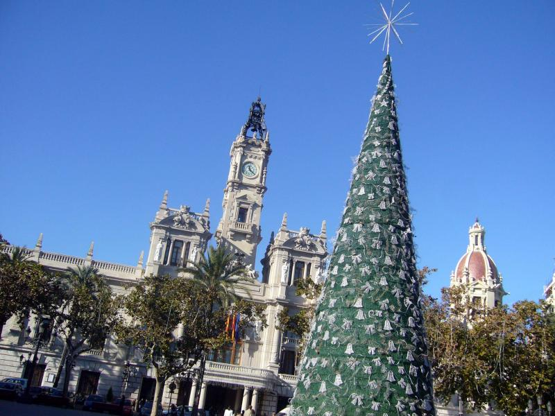 valencia  navidad pza ayuntamiento. Valencia (España) (Valencia)
