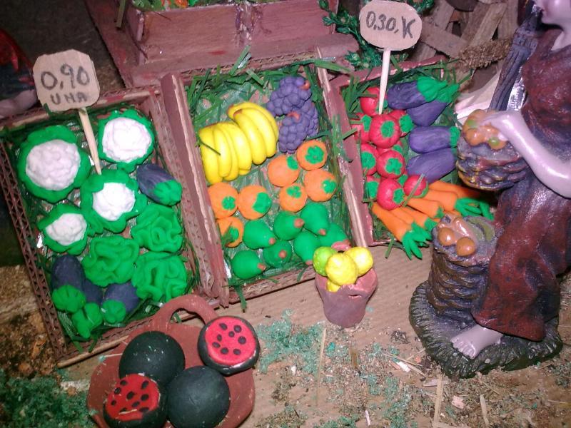 Frutas. Belén de Pepita Mompo