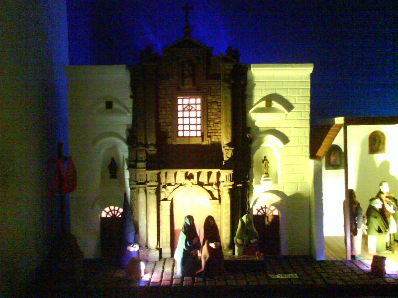 PESEBRE GANADOR DEL PRIMER PREMIO EN QUITO. Belén de Paul Fonseca (Quito)
