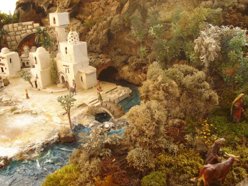 Naturaleza, rio y montañas de Nazaret. Belén de Joaquin S. Font (Barcelona)