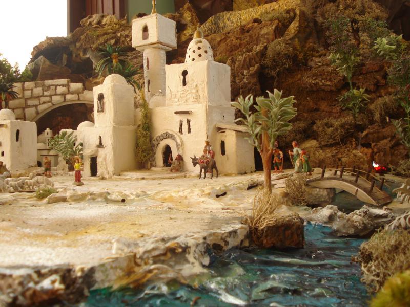 Nazaret y el rio. Belén de Joaquin S. Font (Barcelona)