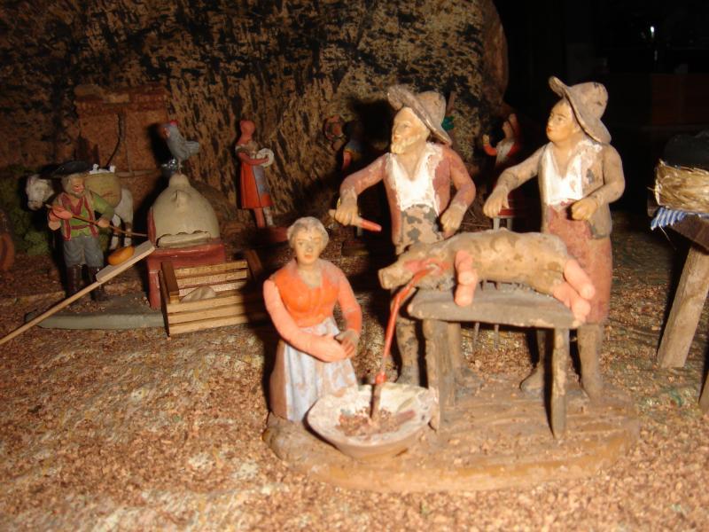Matanza del cerdo.. Belén de Antonio Espín