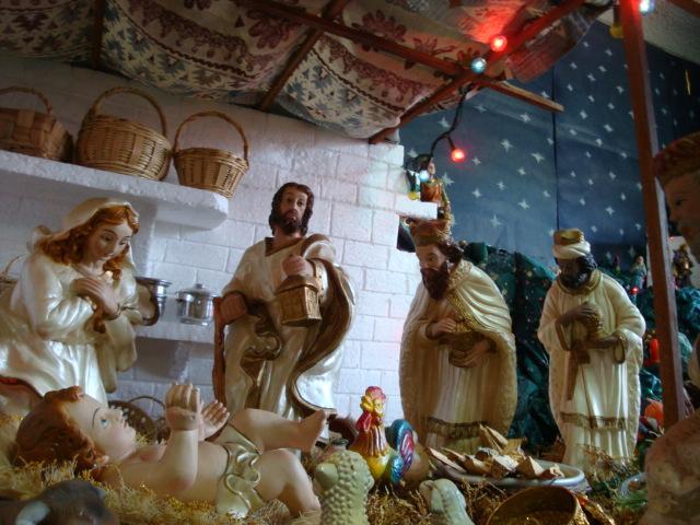 llagada de los reyes magos. Belén de Albert Reyes Elguera (Lurin, Lima)