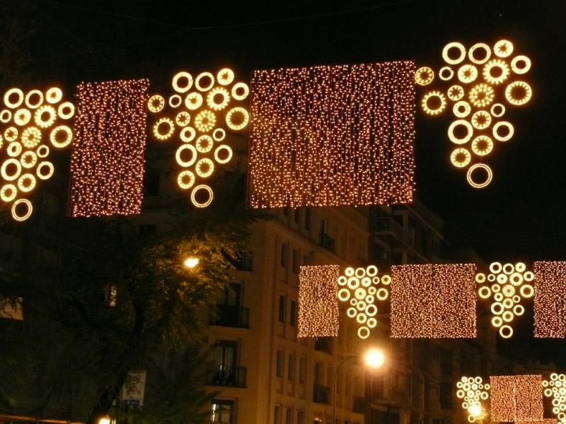 Vendimia navideña. Navidad 2008 en Madrid