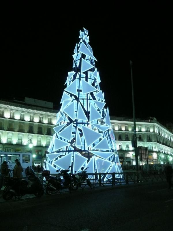 Árbol de Navidad de Sol 2008. Navidad 2008 en Madrid