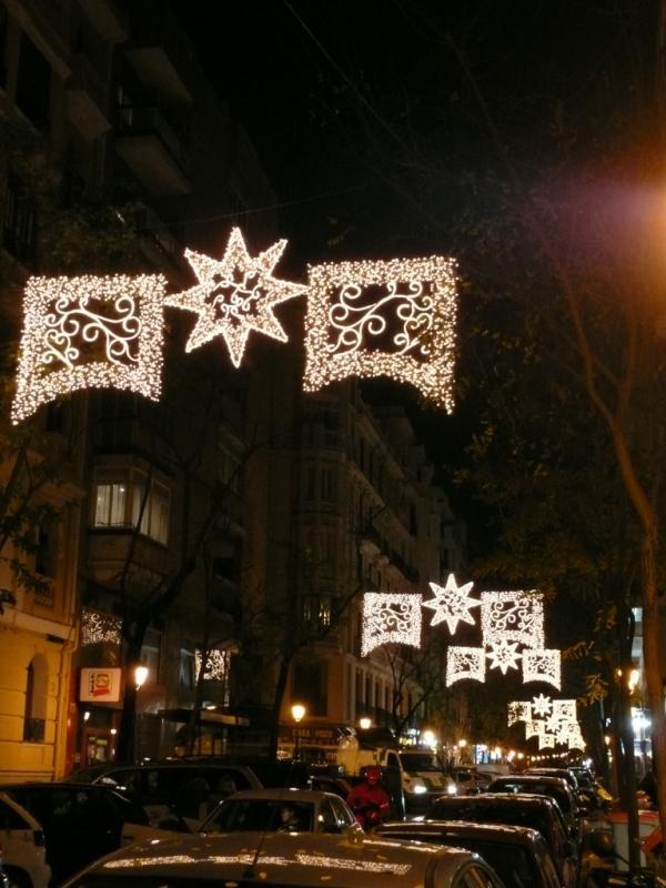 Estrellas tradicionales. Navidad 2008 en Madrid