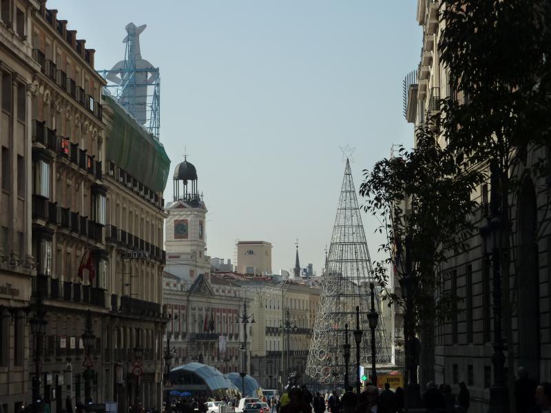 Árbol de Sol y Tío Pepe. Navidad 2009 en Madrid