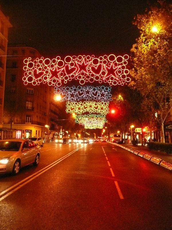 Corazones y estrellas. Navidad 2008 en Madrid