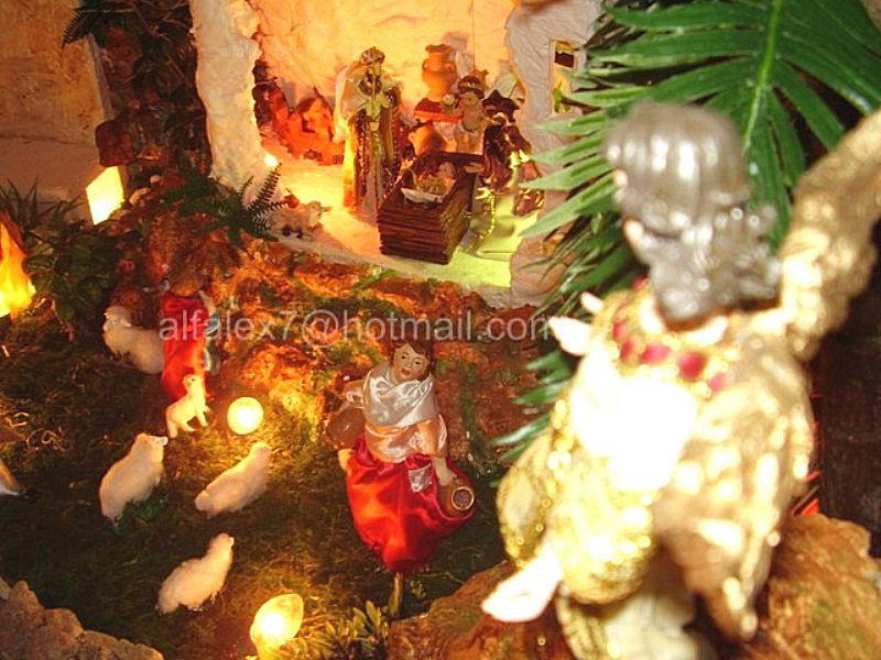 Angel y pastores. Belén de Alfredo Alexander Flores Juliac (Cumaná)