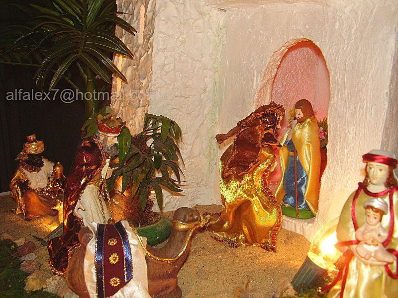 Reyes buscan al Niño Jesus. Belén de Alfredo Alexander Flores Juliac (Cumaná)