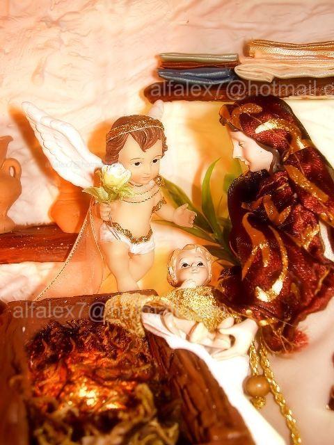 Maria, Jesús y Angelito. Belén de Alfredo Alexander Flores Juliac (Cumaná)
