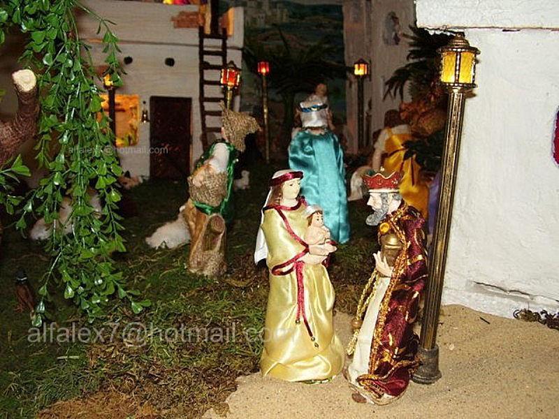 Rey Mago pregunta por niño Jesús. Belén de Alfredo Alexander Flores Juliac (Cumaná)