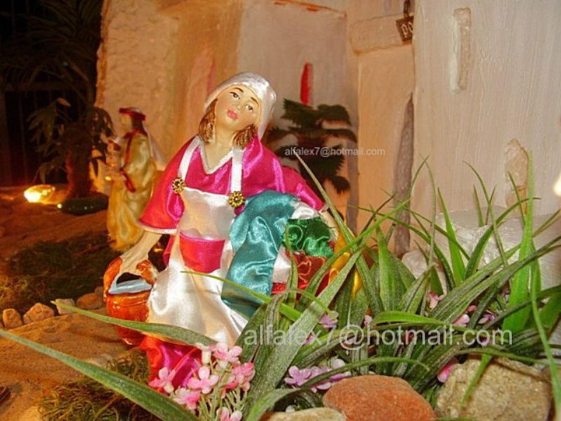 lavandera 2. Belén de Alfredo Alexander Flores Juliac (Cumaná)