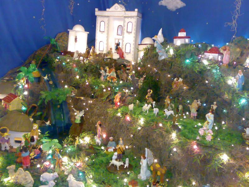La aldea y el palacio. Belén de Jorge Zapata