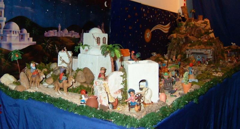 Vista geral 1. Belén de Associação Cultural Fusetense (Fuseta, Algarve)