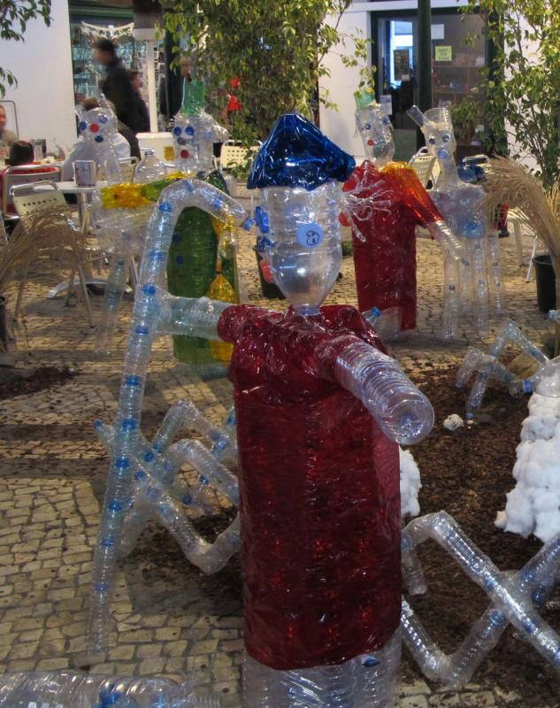 pastor y los Reyes al fondo. Belén de Beatriz (Fuseta, Algarve)