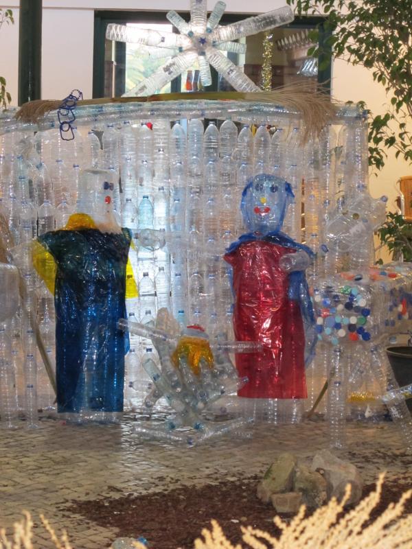 El portal. Belén de Beatriz (Fuseta, Algarve)