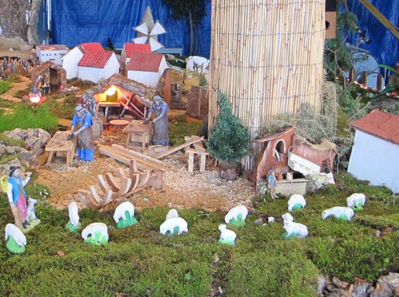 7 pastor e carpinteiros. Belén de Bombeiros Voluntarios Faro (Faro)
