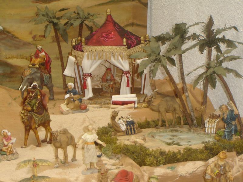 Tienda arabe y oasis 03. Belén de Carlos A. Fernandez (Cali)