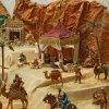 Desierto y tiendas árabes