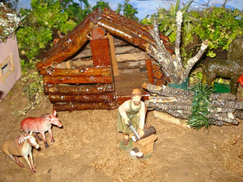 Leñador. Belén de carlos alberto jaramillo (Coclé - Panamá)