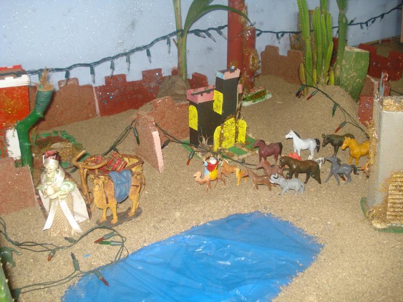 Los Reyes Magos camino al Pesebre. Belén de carlos alberto jaramillo (Coclé - Panamá)