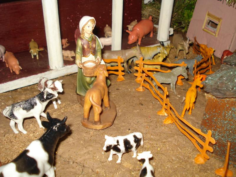 Animales en la Granja. Belén de carlos alberto jaramillo (Coclé - Panamá)