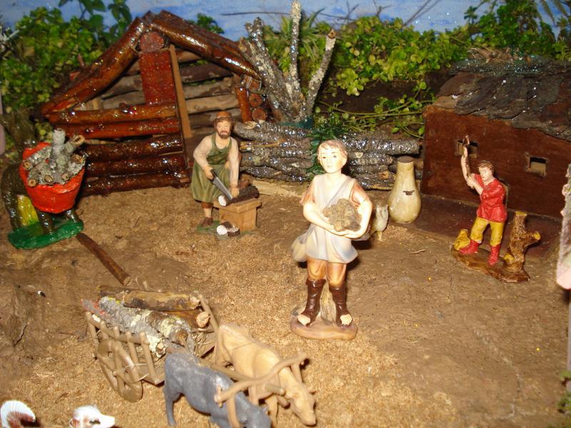 Los Leñadores. Belén de carlos alberto jaramillo (Coclé - Panamá)