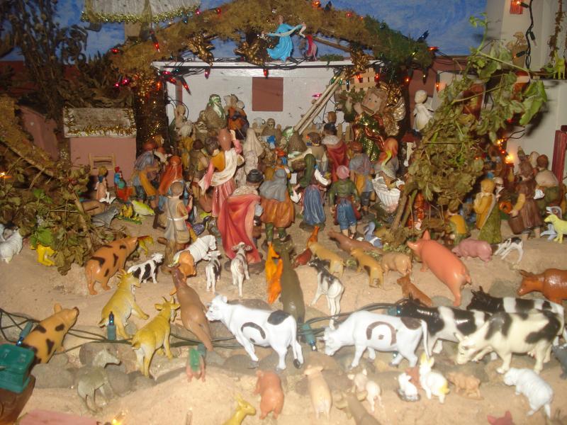 Adorando al Niño Jesús. Belén de carlos alberto jaramillo (Coclé - Panamá)