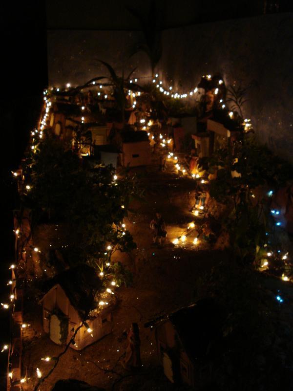 Encendido de luces. Belén de carlos alberto jaramillo (Coclé - Panamá)