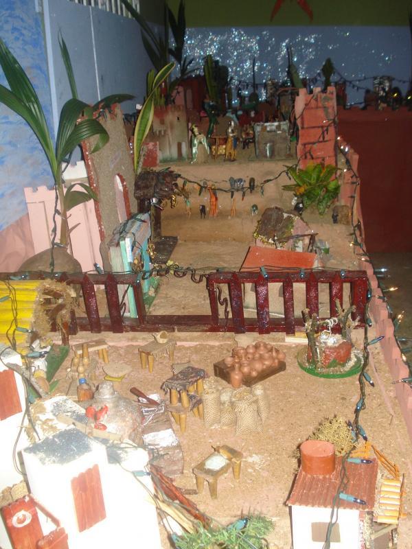 Los Reyes Magos en su camino al Pesebre. Belén de carlos alberto jaramillo (Coclé - Panamá)