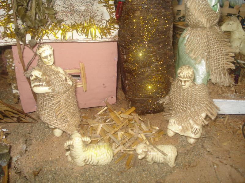 Pastores junto al Pesebre. Belén de carlos alberto jaramillo (Coclé - Panamá)