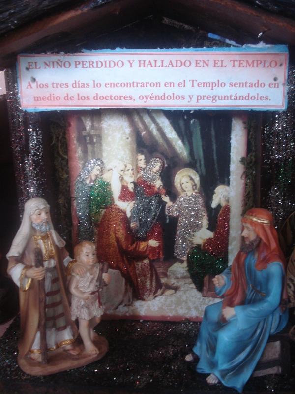 El Niño perdido y hallado en el Templo. Belén de carlos alberto jaramillo (Coclé - Panamá)
