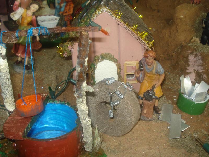 Herrero trabajando. Belén de carlos alberto jaramillo (Coclé - Panamá)