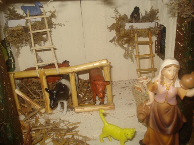 Animales en el cobertizo. Belén de carlos alberto jaramillo (Coclé - Panamá)