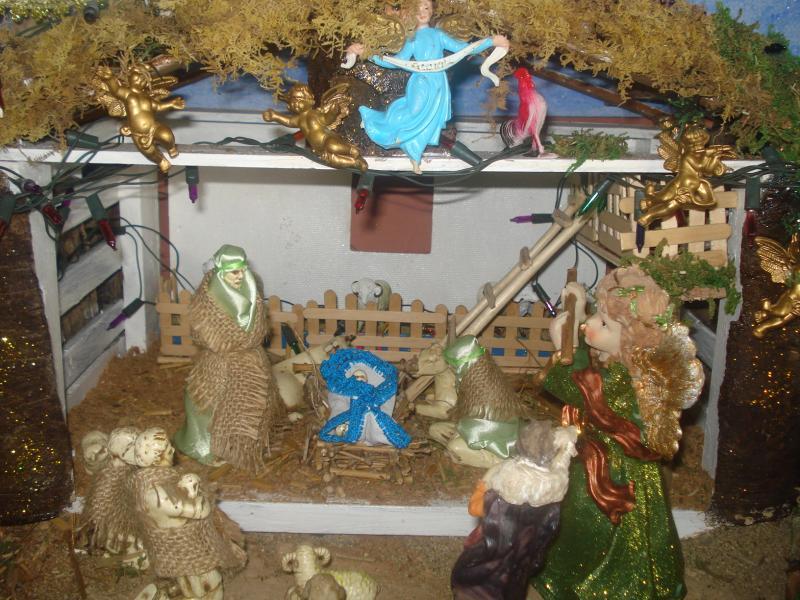 La Sagrada Familia en el Pesebre. Belén de carlos alberto jaramillo (Coclé - Panamá)