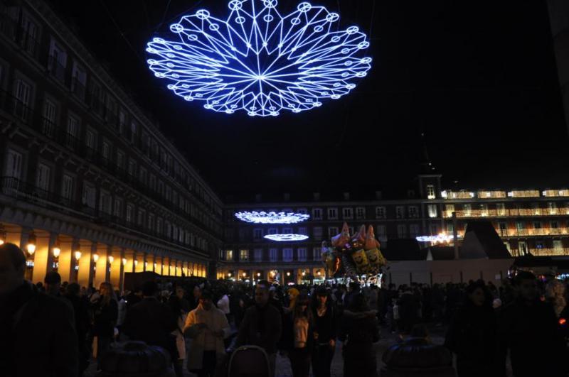 Plaza Mayor. Navidad 2009 en Madrid