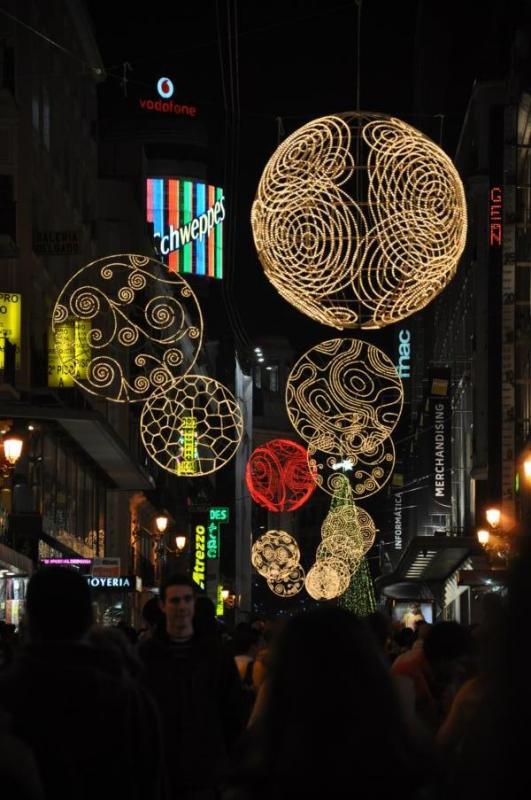 Calle Preciados. Navidad 2009 en Madrid