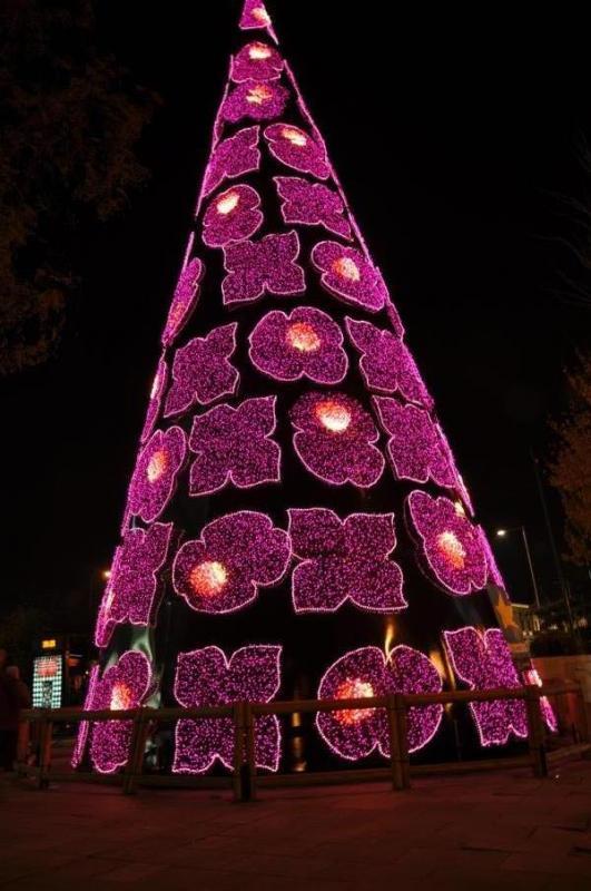 Arbol Plaza de Colon. Navidad 2009 en Madrid
