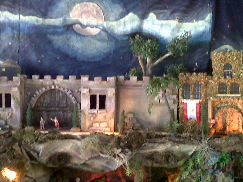 Templo de Heródes con Murallas nuevas 2010.. Belén de Cristhian Castrejón (David, Chiriquí, Panamá)