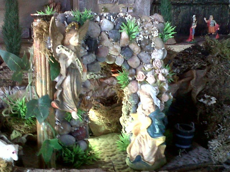 Anunciación del Angel Gabriel a Maria.. Belén de Cristhian Castrejón (David, Chiriquí, Panamá)