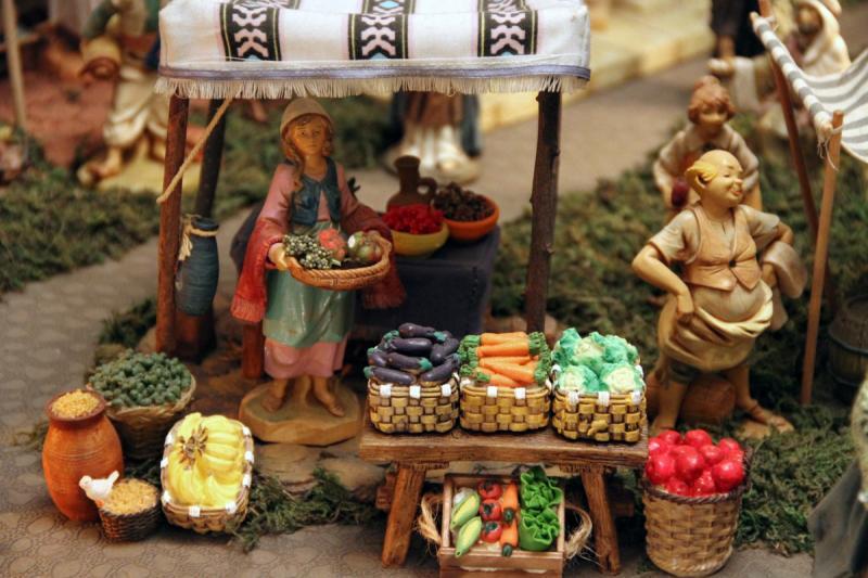 Vendedora de Frutas,Legumbres y Hortalizas. Belén de Fidel Ottati (Santo Domingo)