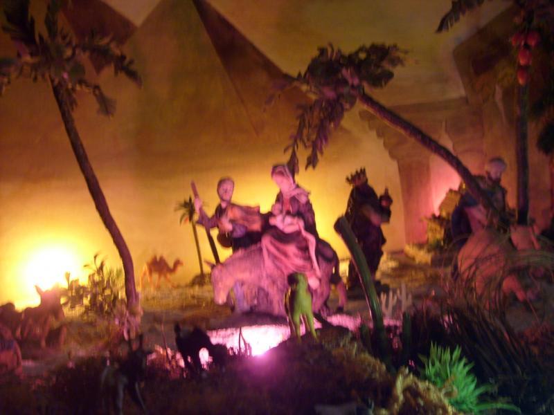 La Huida a Egipto.. Belén de Cristhian Castrejón (David, Chiriquí)