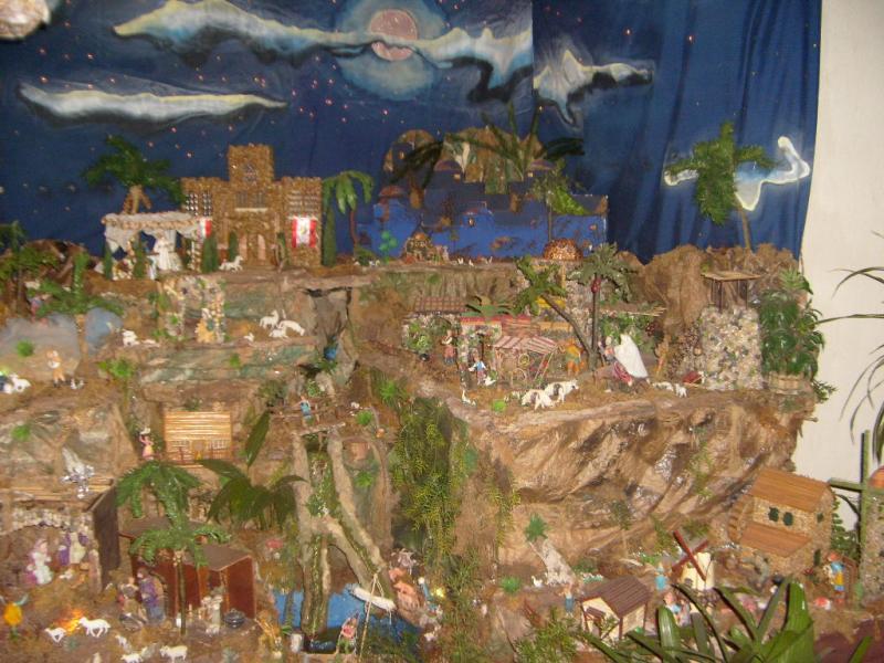 Vista Frontal del Belén. Belén de Cristhian Castrejón (David, Chiriquí)