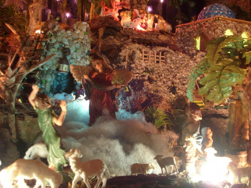 Aparición del Ángel a los Pastores.. Belén de Cristhian Castrejón (David, Chiriquí)