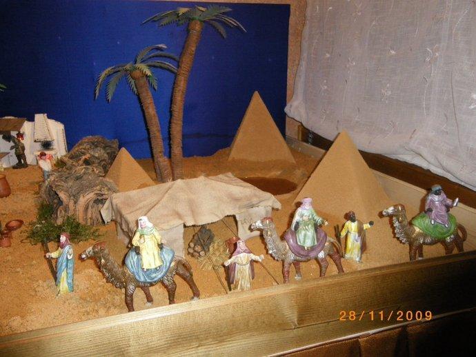 reyes en el desierto. Belén de Daniel (madrid)