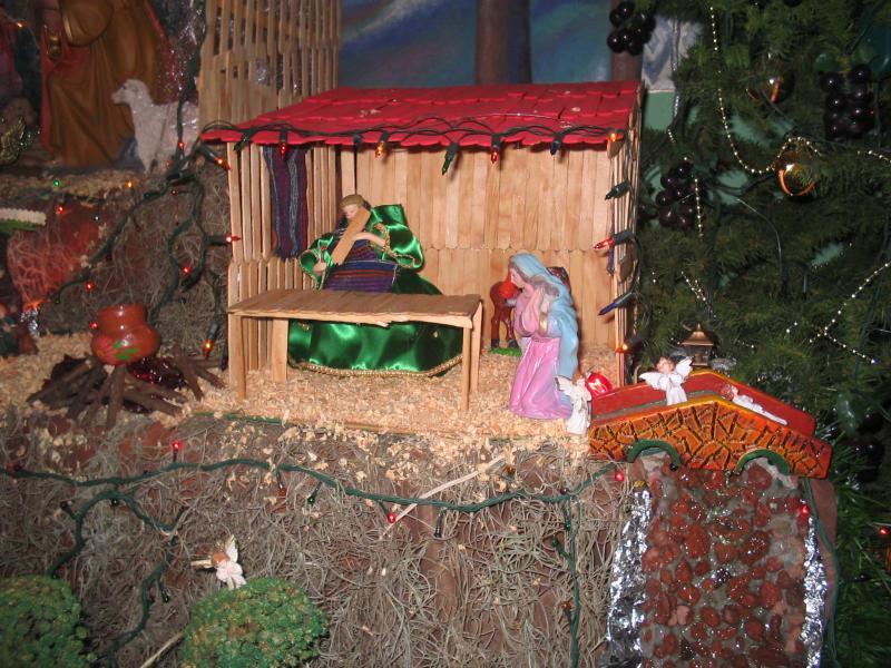nacimiento carpinteria de san jose. Belén de David (ario de rosales michoacan.)